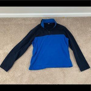 Fleece half zip pullover.